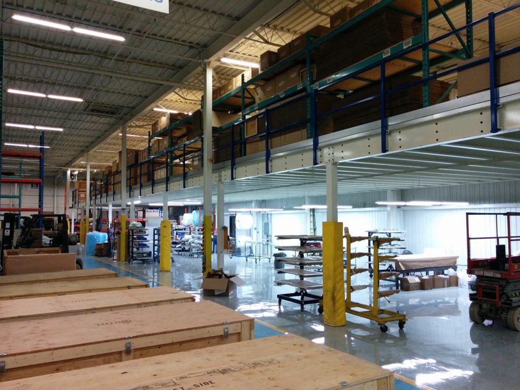 buy a custom steel mezzanine from ArcForce, canadian mezzanine manufacturer, custom steel mezanine decks